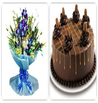 Orchids and Chocolate Marble Cake