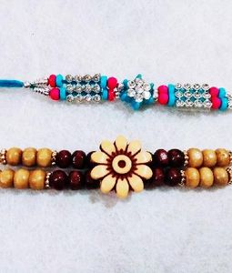 1 Flower 1 Pearl Rakhi