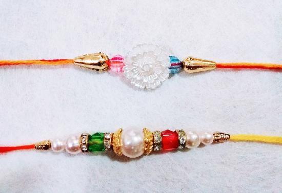 Two White Pearls Rakhi