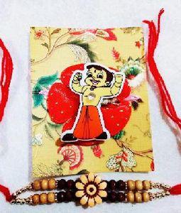 1 Bheem and 1 Floral Rakhi