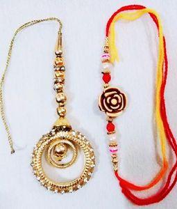 Golden Lumba Floral Rakhi
