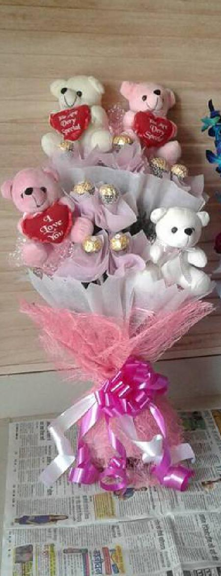 Teddy and Chocolate Bouquet