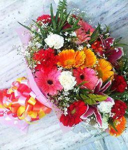 Mix Flowers and Multicolour Bouquet