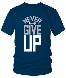 Blue T Shirt Never Giveup