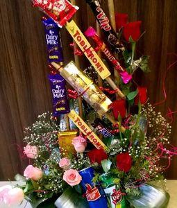 chocolates arrangement