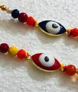 Red and Blue Rakhi Pair