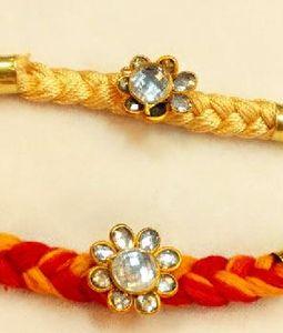 Red and Yellow New Design Rakhi