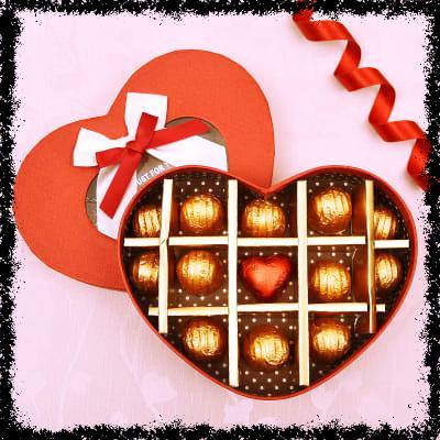13 Chocolates in a Heart Shape Box
