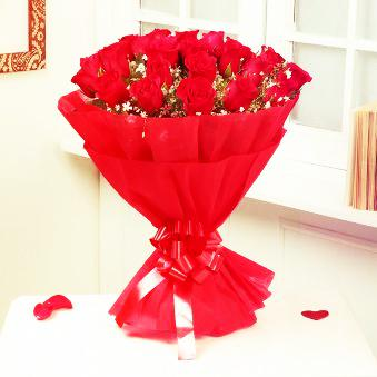 25 Red Roses Bunch for Valentine