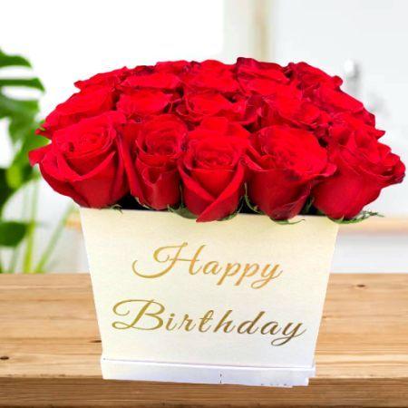 20 Roses in Birthday Box