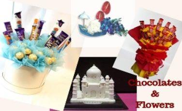 Exclusive Flowers and Chocolates Arrangements