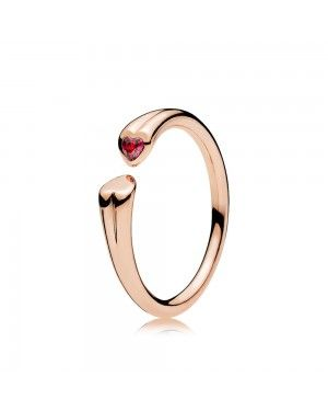 Pandora Two Hearts Ring 186570CZR