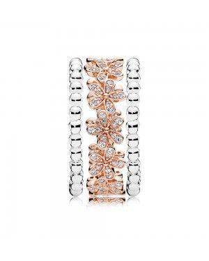Pandora Dazzling Daisy And Bubble Ring Stack GS131