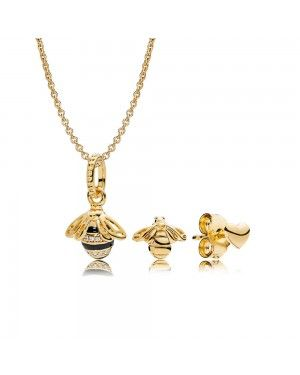 Pandora Queen Bee Necklace And Earring Set GS0110