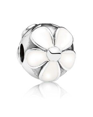PANDORA White Daisy Floral Clip JSP1130 In 925 Silver