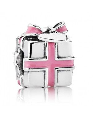 PANDORA All Wrapped Up Pink Present Christmas Charm JSP1045 In Enamel