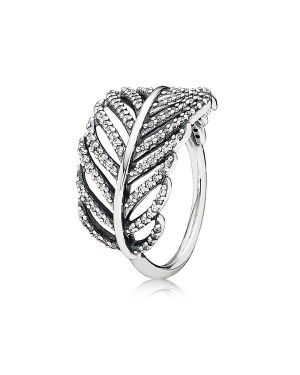 PANDORA Feather Micro Feather Ring JSP1457 In Silver