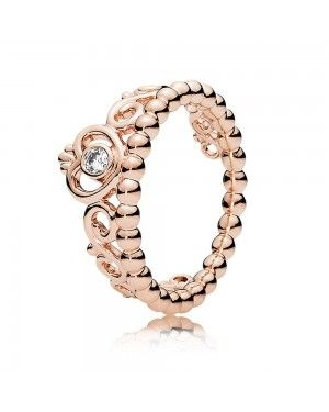 Princess Tiara Fairytale Ring JSP0058 With Pave CZ In Rose