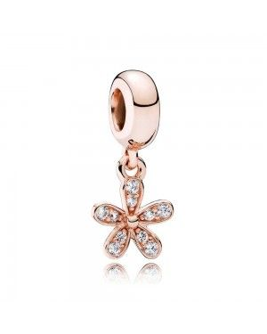 PANDORA Dazzling Daisy Dropper Floral Charm JSP1090 In Rose Gold