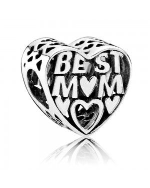 PANDORA Best Mother Family Charm JSP1509 In 925 Silver