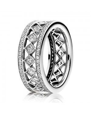 PANDORA Solitaire Shine Ring JSP1363 With Pave CZ