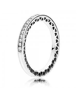 PANDORA Hearts Love Ring JSP1359 With Pave CZ In Sterling Silver