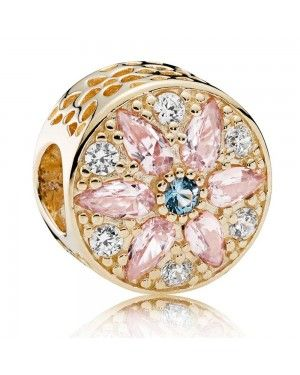 PANDORA Opulent Floral Charm JSP1105 With Cubic Zirconia In Gold