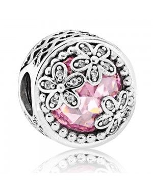 PANDORA Dazzling Daisy Meadow Floral Charm JSP0672 With CZ In Sterling Silver
