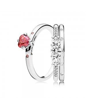 Pandora You And Me Ring Stack GS128