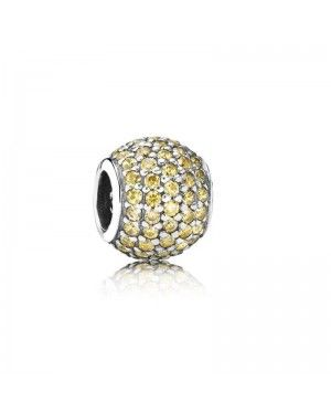PANDORA Gold Ball Charm JSP1063 With CZ In Silver