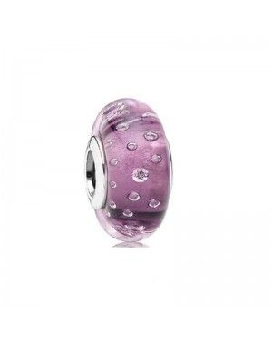 PANDORA And Purple Fizzle Charm JSP0889 In Murano Glass
