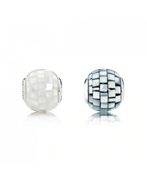 PANDORA Mosaic Charm Set JSP0472 With Pave CZ In Mother Of Pearl