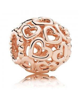 PANDORA Open Your Heart Love Charm JSP1647 In Rose Gold
