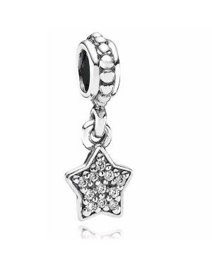 PANDORA Star Charm JSP1071 With CZ In Sterling Silver