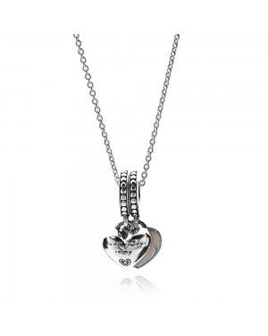 PANDORA Mother And Daughter Hearts Family Necklace JSP0067