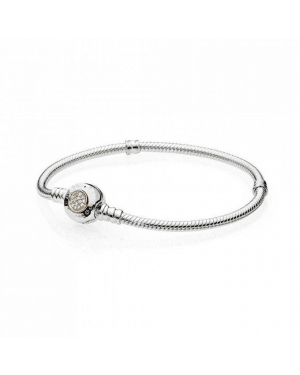 PANDORA Moments Two Tone Bracelet JSP1132 With Cubic Zirconia In 925 Silver