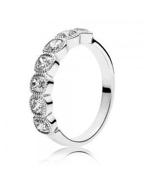 PANDORA Alluring Cushion Ring JSP1339 With Cubic Zirconia In Silver