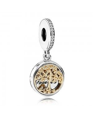PANDORA Family Roots Family Charm JSP0708 With CZ In Gold