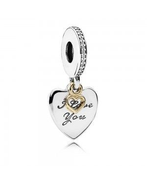 PANDORA Love You Forever Dropper Charm JSP0678 With CZ In Gold