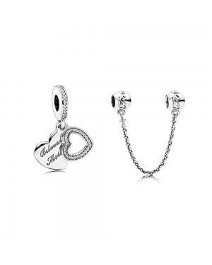 PANDORA Beloved Mother Family Charm Set JSP0557 With CZ In Silver