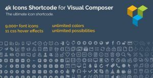Download 4k Icon Fonts for Visual Composer