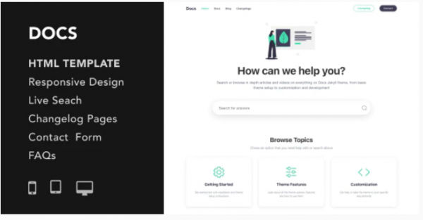 Download Docs - Documentation and Manual HTML5 Responsive Template