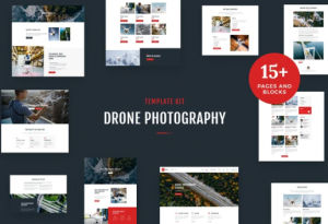 Download Drone Media - Aerial Photography & Videography Elementor Template Kit