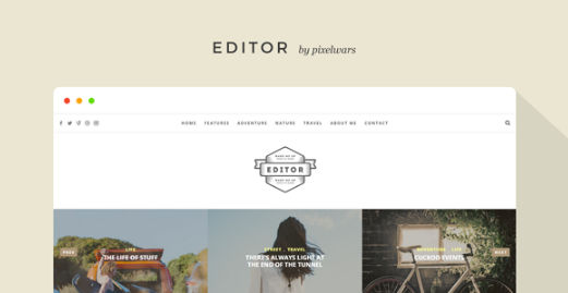 Download Editor Blog A WordPress Blog Theme for Bloggers