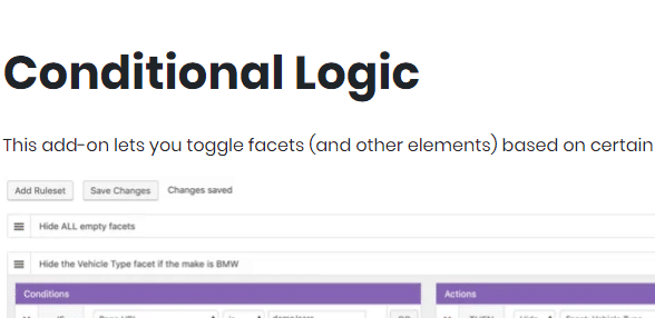 Download FacetWP Conditional Logic