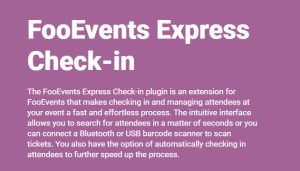 Download FooEvents Express Check-in