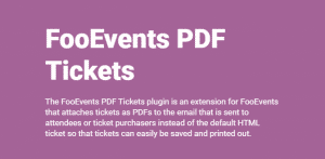 Download FooEvents PDF Tickets