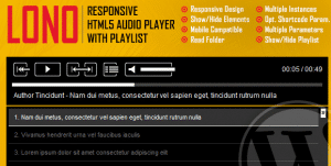 Download Lono Responsive HTML5 Audio Player With Playlist