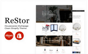 Download ReStore - Housewares Multipage Clean Shopify Theme