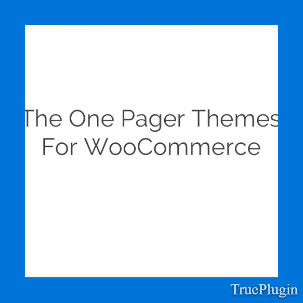 Download The One Pager Themes for WooCommerce